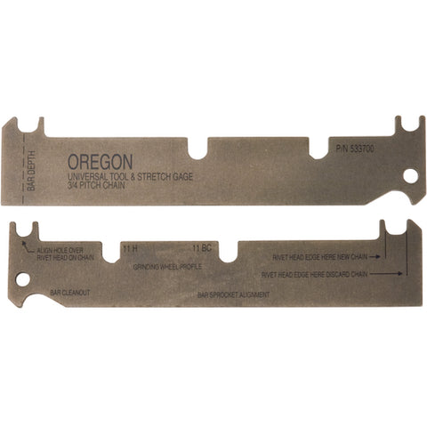 OREGON UNIVERSAL TOOL & STRETCH GAGE 3/4 PITCH