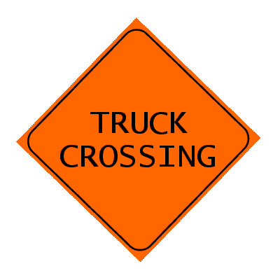 Sign - Truck Crossing