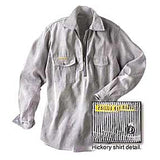 Prison Blues Long Sleeve Zipper-front Hickory Work Shirt