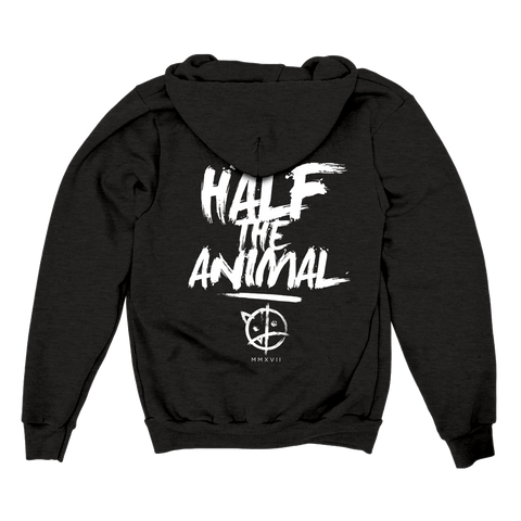 Half The Animal Zip-Up Hoodie