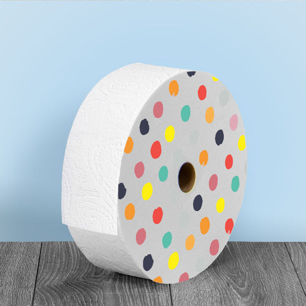 "Freedom Roll with Gumdrops Design for Multi-User Bathroom (12.5"" diameter)"