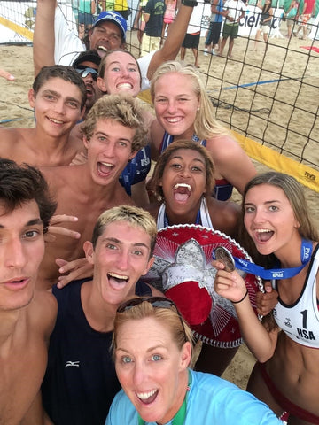 Ricardo Guimaraes USA National Team at the FIVB World Championships in Acapulco, Mexico, which our Women's Team won Gold and Silver medals.