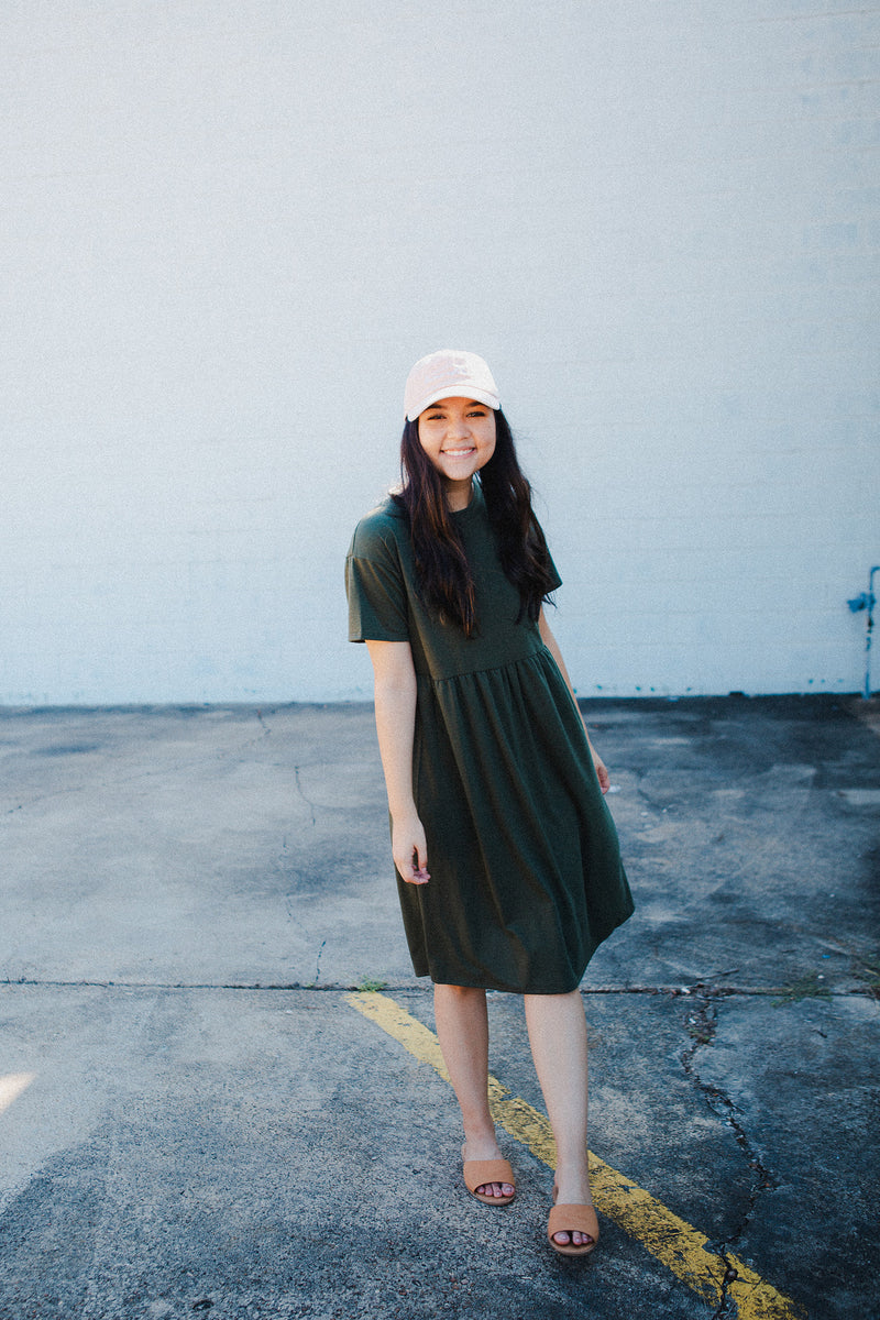 Uma Pocket Dress in Olive