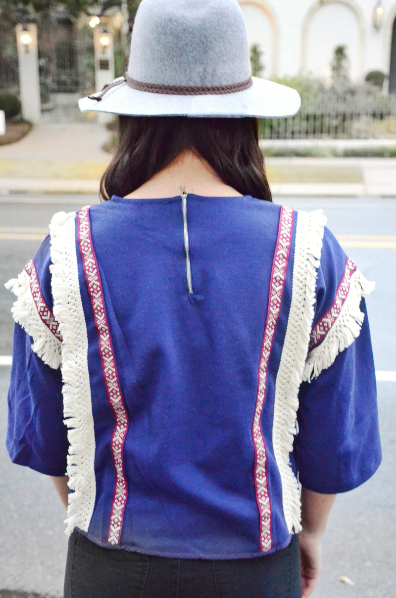 The Lovely Indigo Top