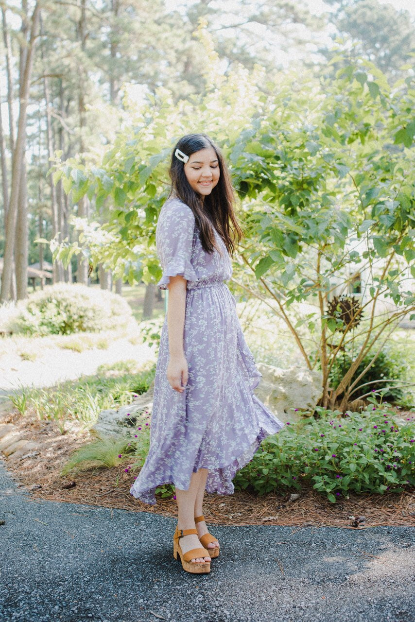 *RESTOCKED* The Clara High-Low Dress in Lavender