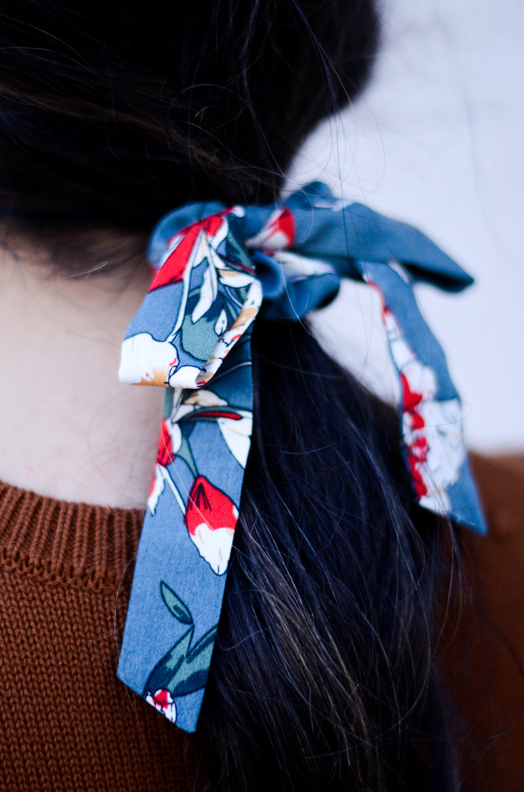 The Koi Floral Scrunchie Bow