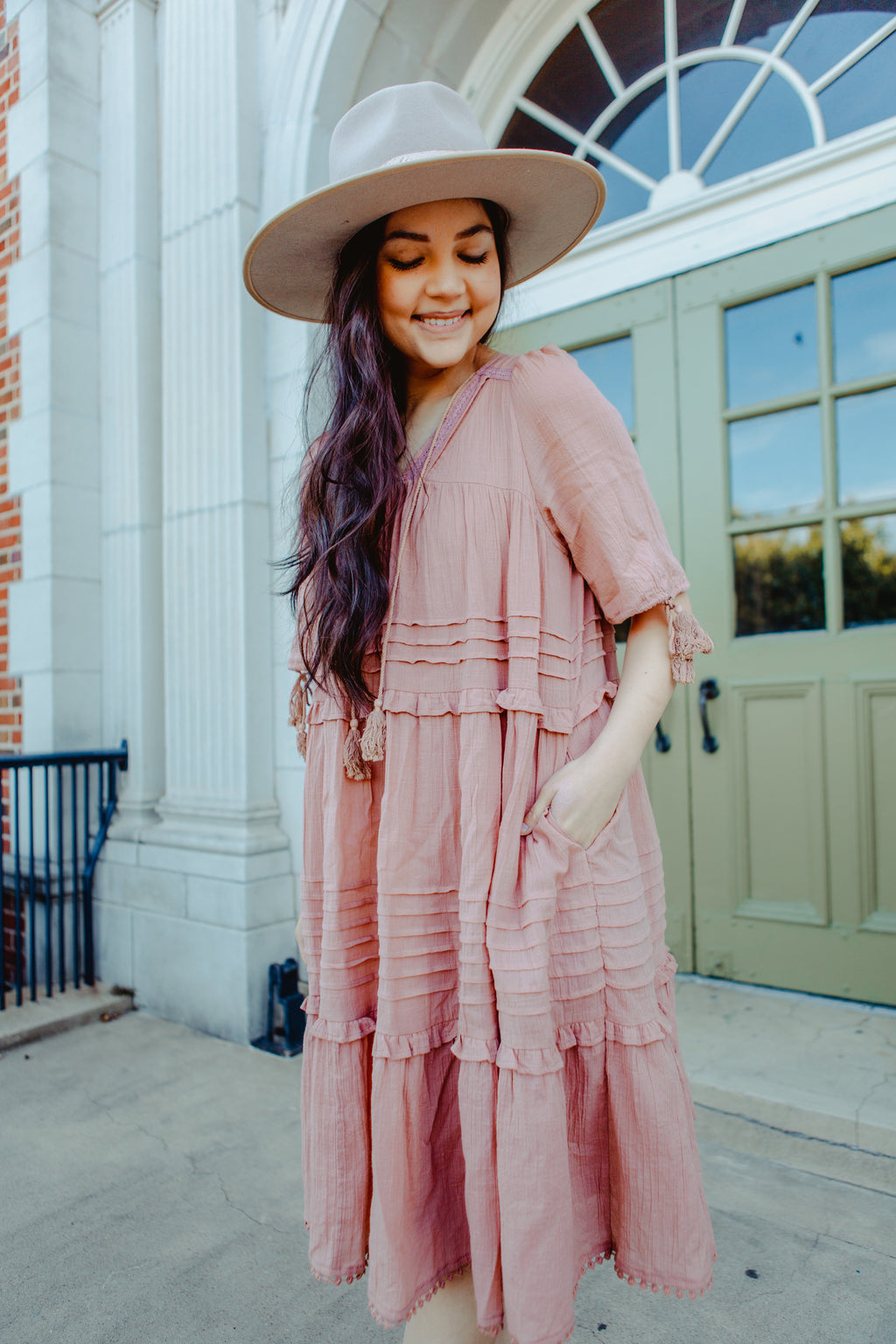Carolina Dress in Mauve
