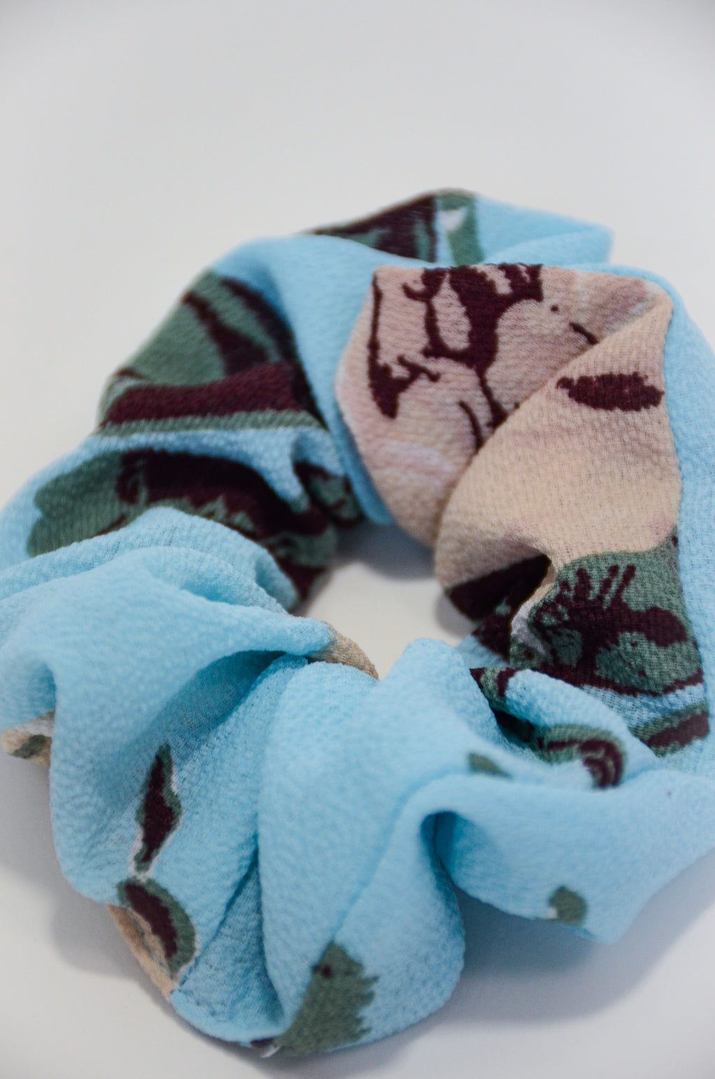 The Watercolor Scrunchie in Light Blue