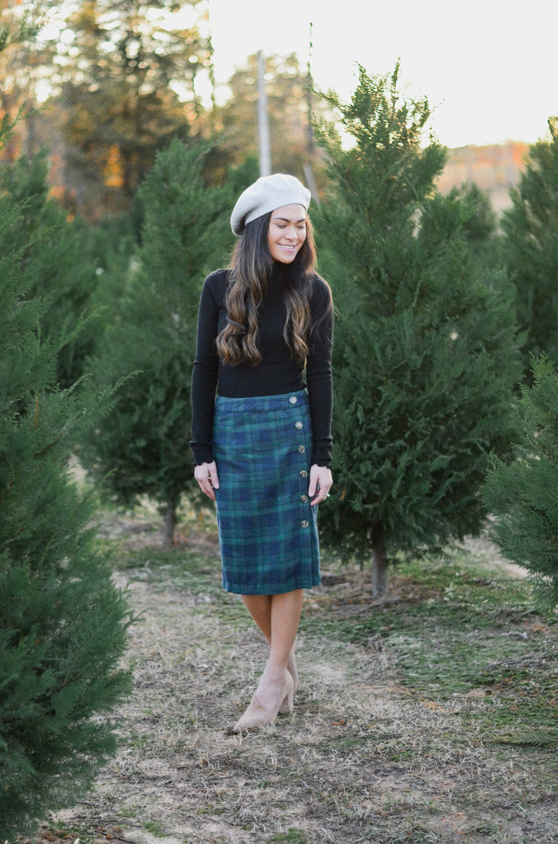 Plaid You're Here Skirt