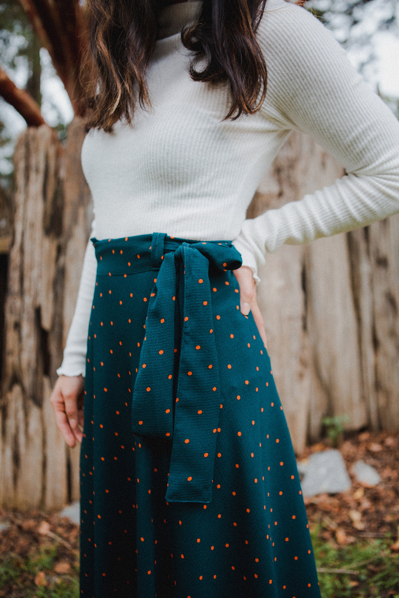 Darla Polka Dot Wrap Skirt