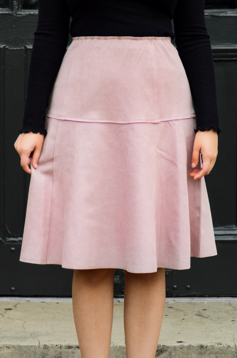 The Julia A-line Skirt in Mauve