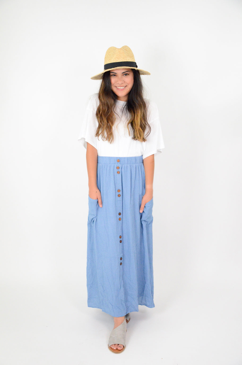 The Sydney Polka Dot Maxi Skirt