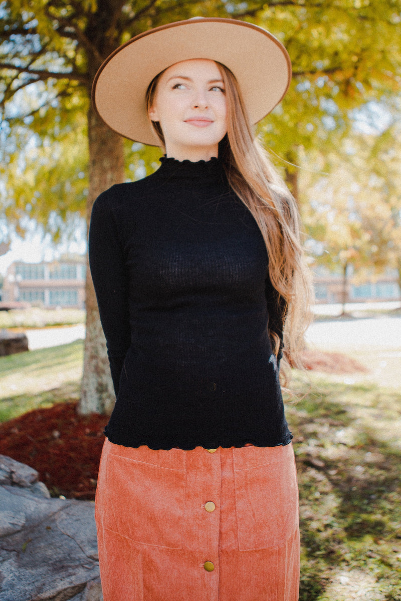Madison Layering Turtleneck in Black