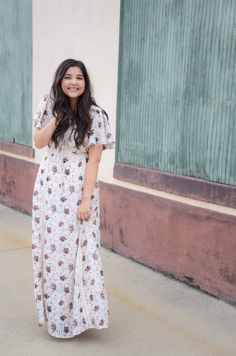 The Hummingbird Floral Maxi Dress