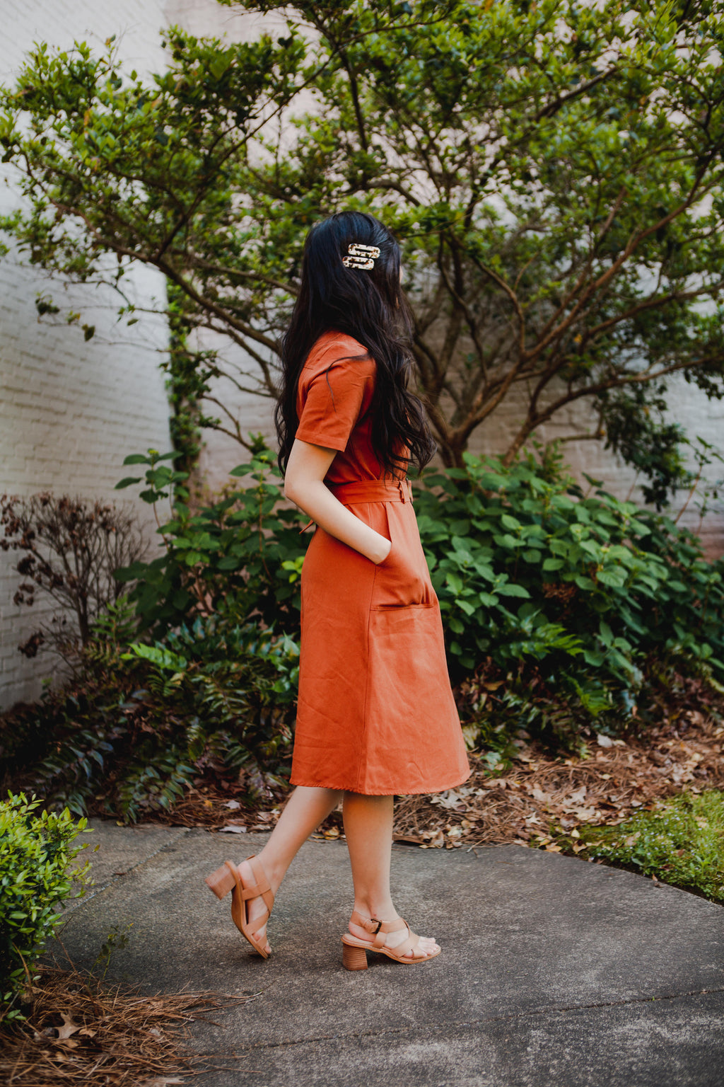 Burke Utility Dress in Rust