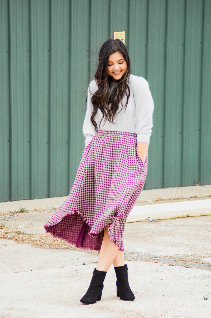 *FINAL SALE* The Rosie Cranberry Skirt