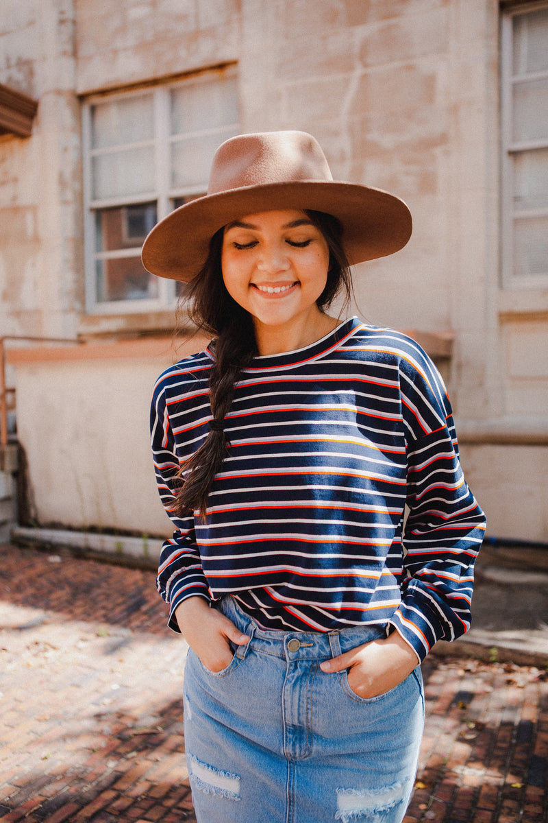 Delilah Striped Pullover