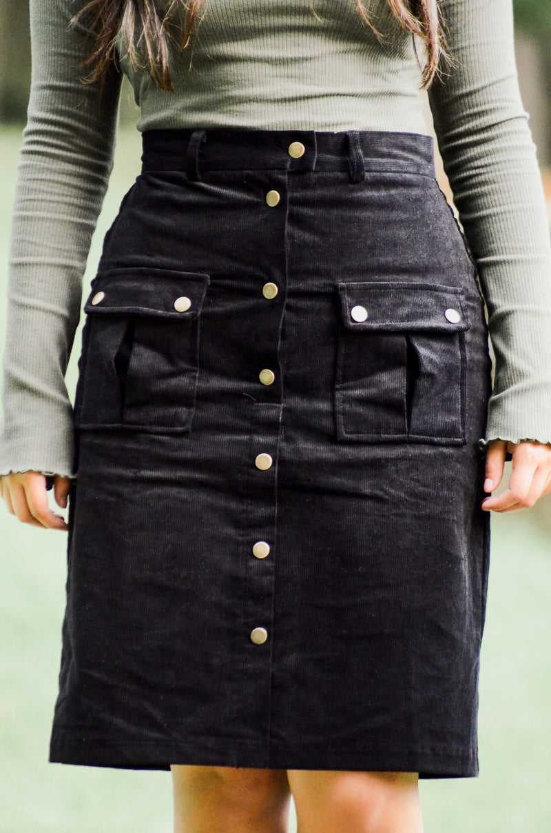 The Oxford Corduroy Skirt