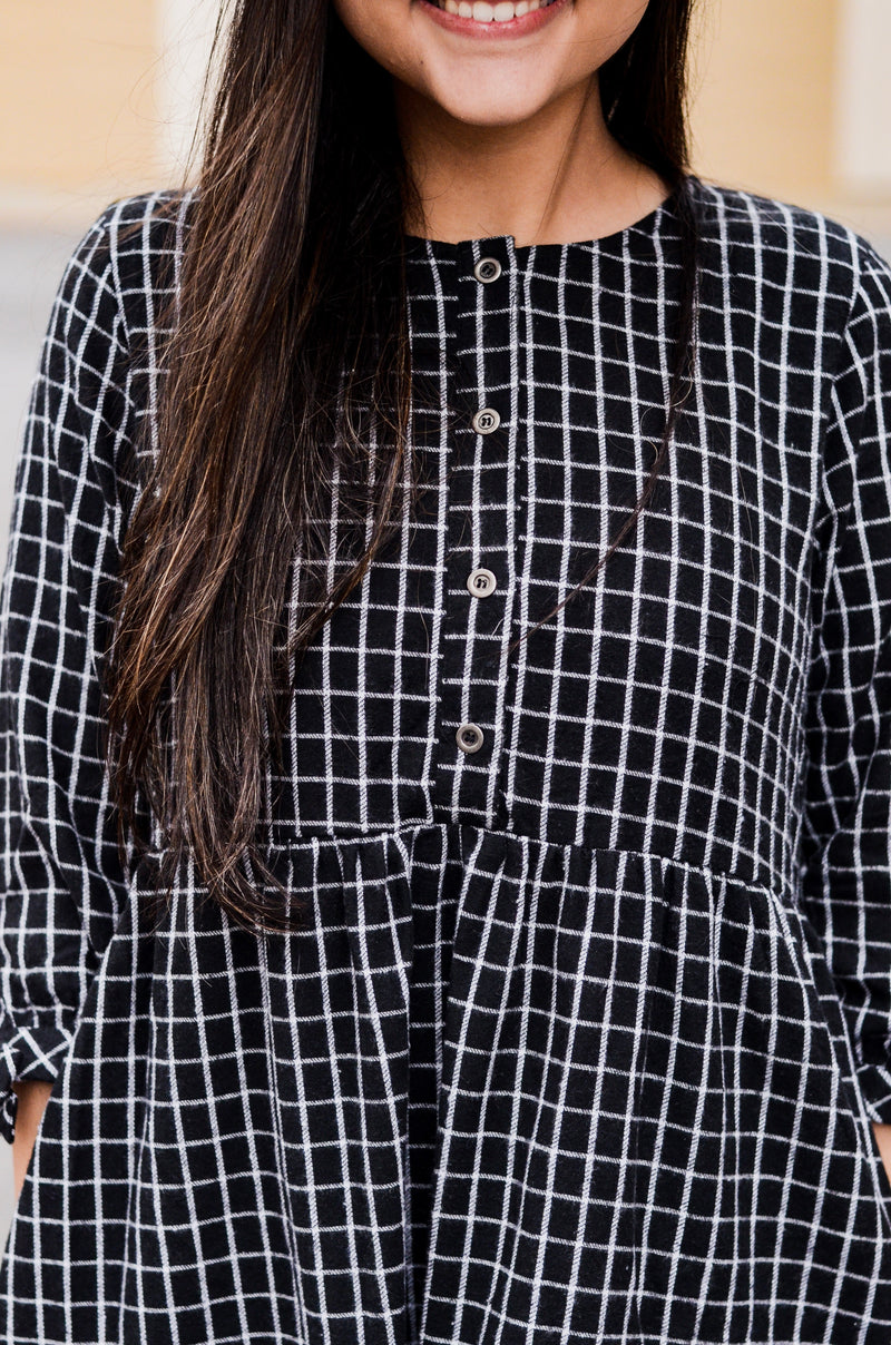 The Midnight Moon Checkered Dress