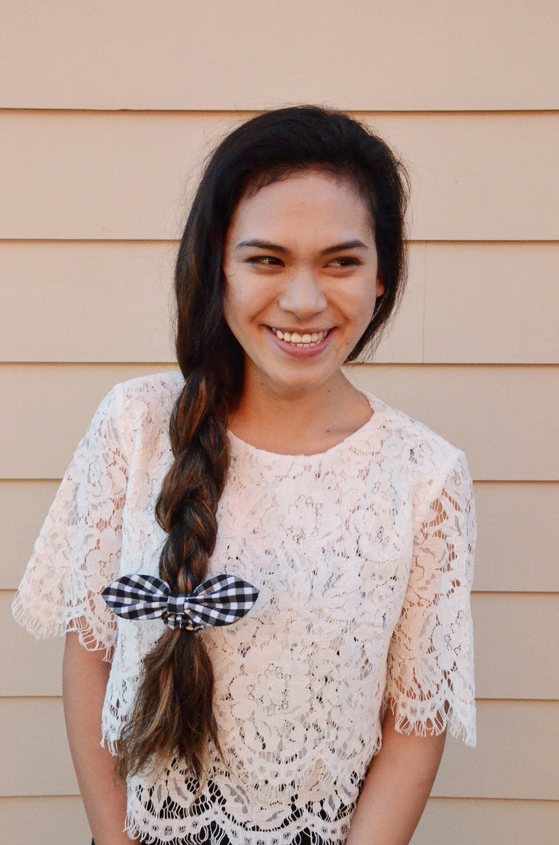 The Stargaze Gingham Hair Bow