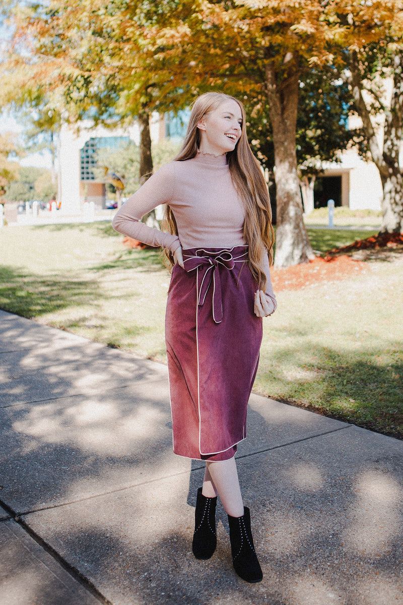 Madison Layering Turtleneck in Blush