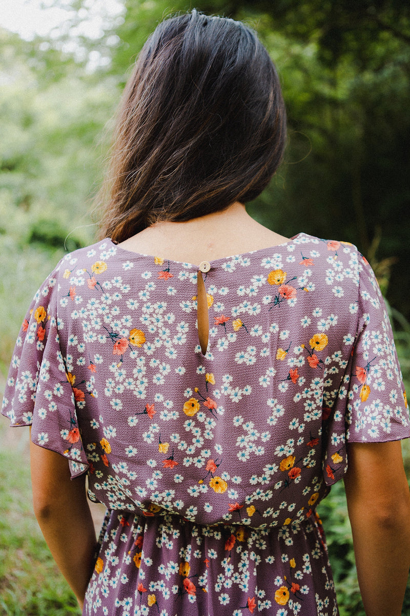 The Daisy Floral Dress in Lilac