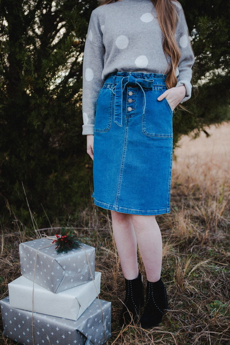 Gwyneth Denim Skirt