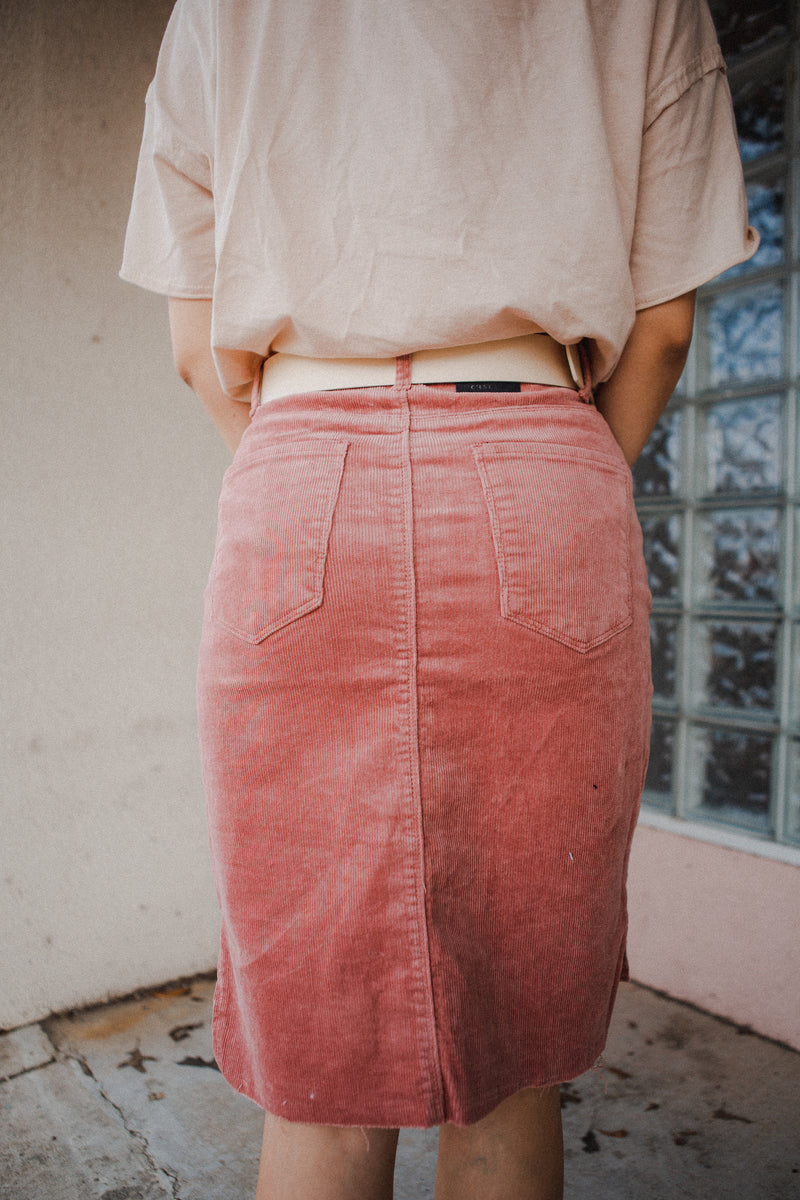 Desert Rose Corduroy Skirt