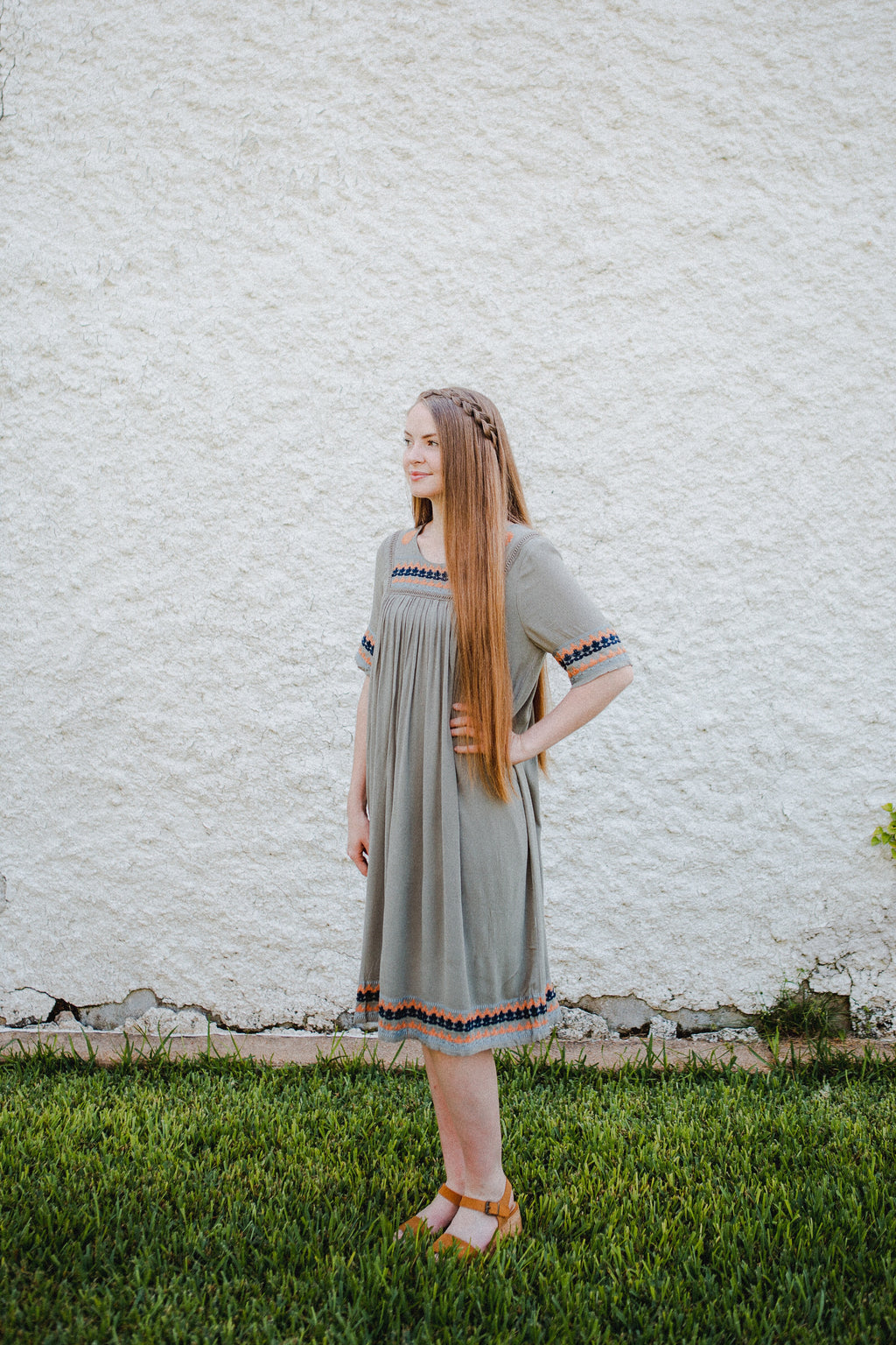 The Medina Dress in Olive
