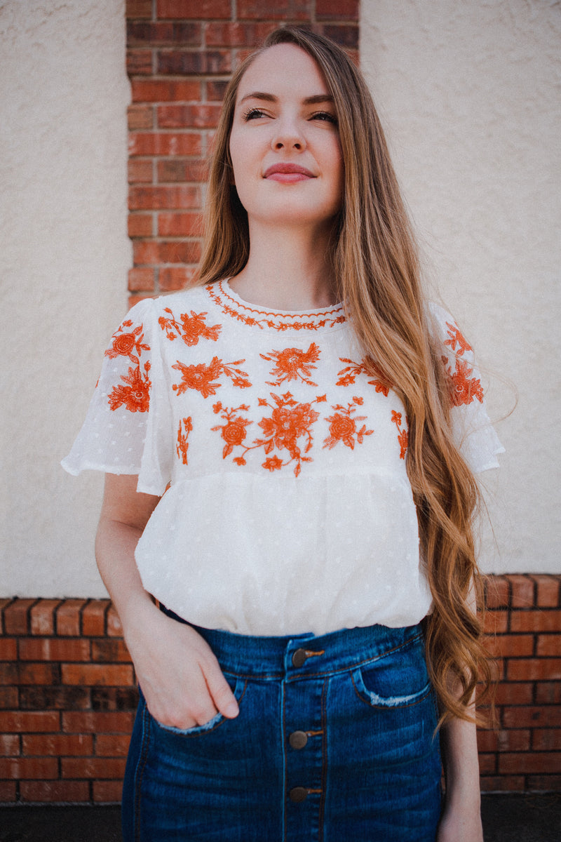 Jillian Embroidered Blouse