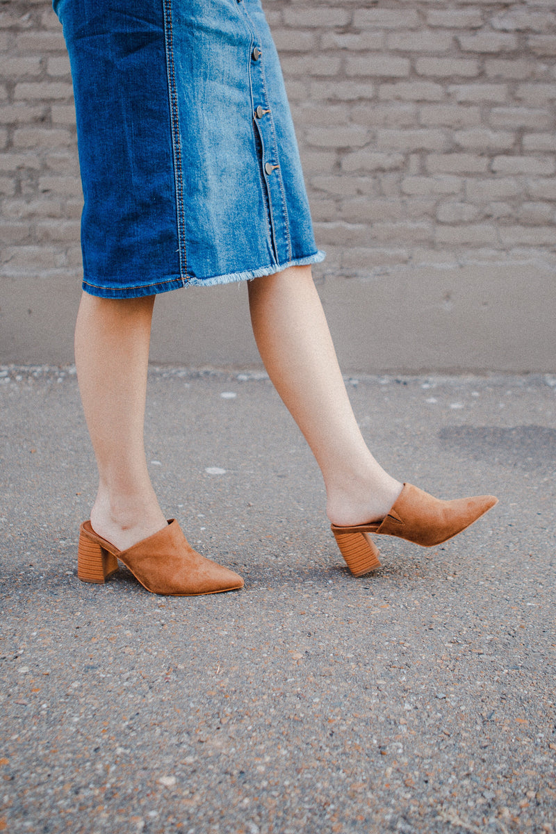 Toujours Studded Booties in Tan