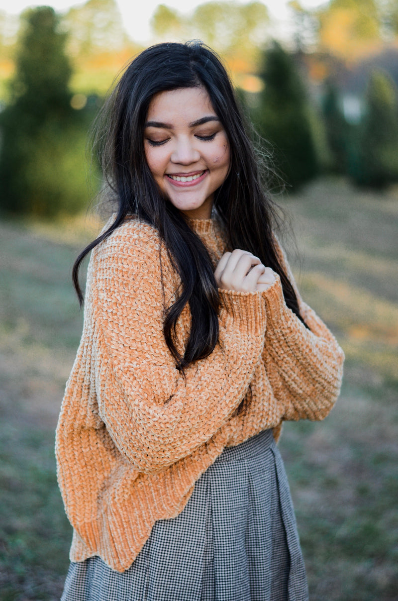 The Phoebe Scalloped Sweater