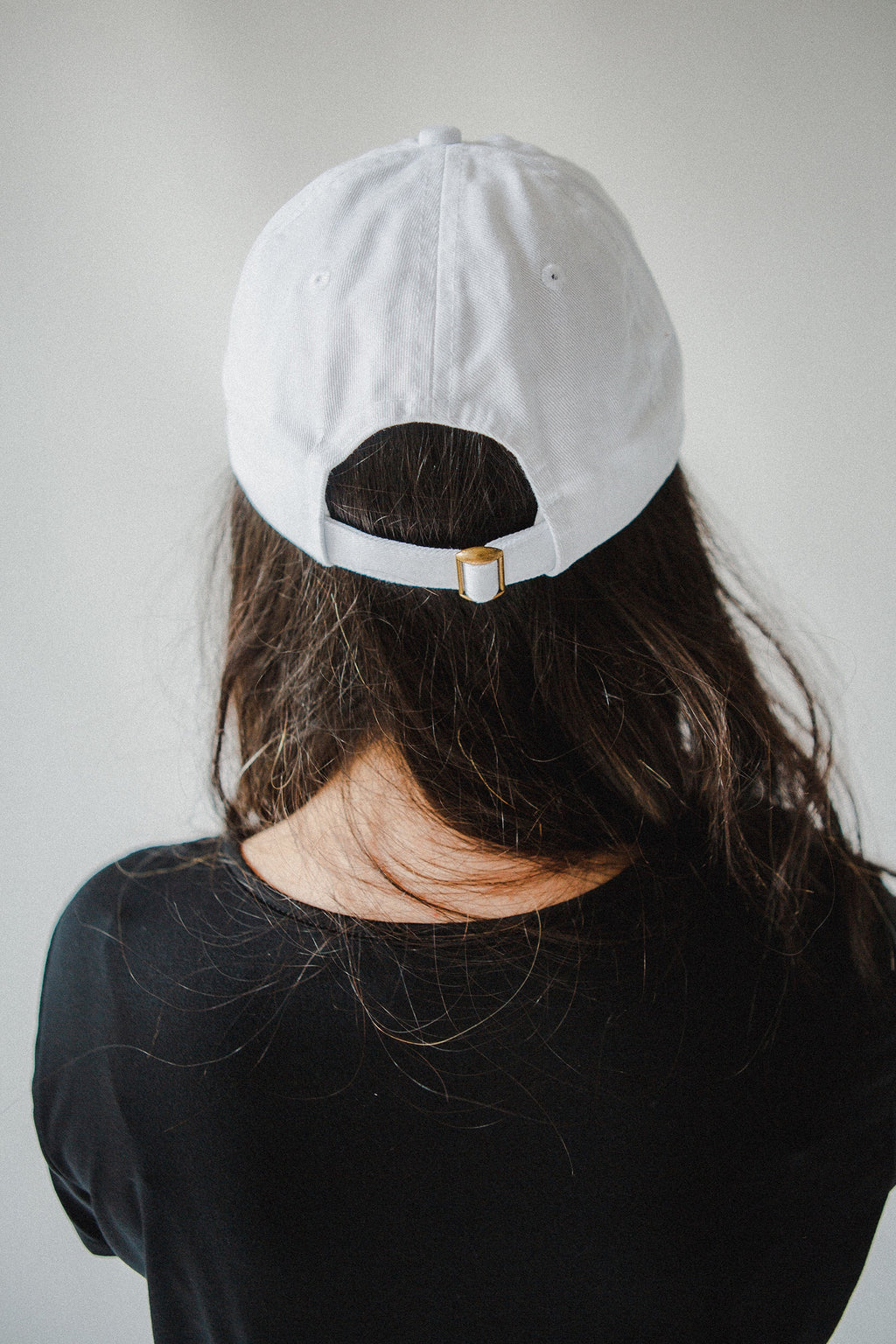 Korean Heart Baseball Cap in White