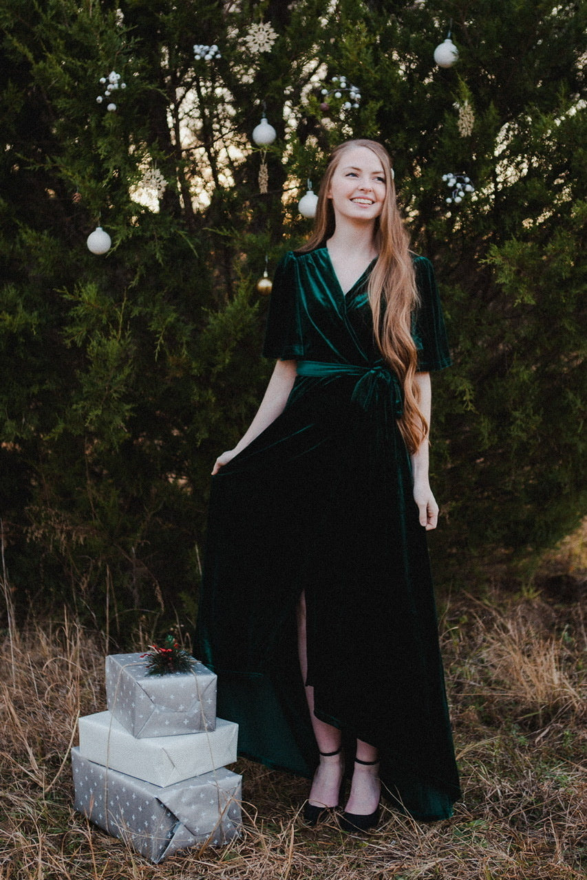 Emerald City Velvet Dress
