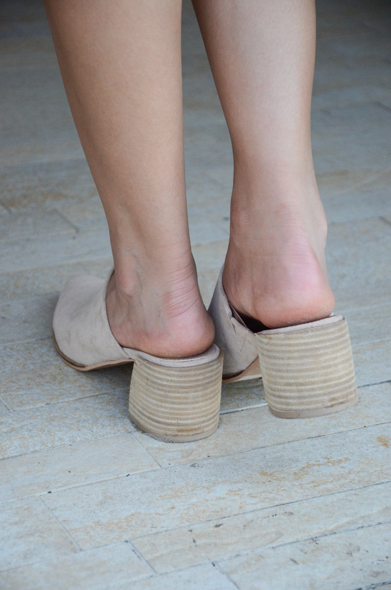 The Brie Slides in Taupe