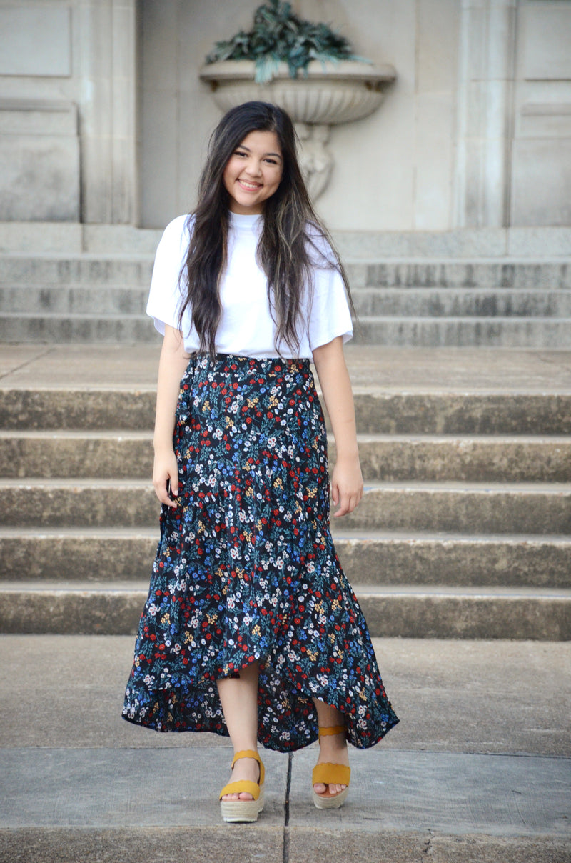 Floral Night Maxi Skirt