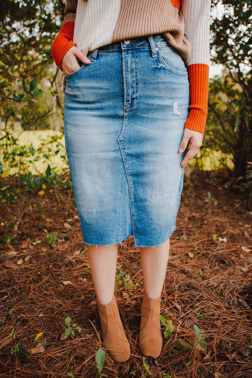 Lawrence Asymmetrical Denim Skirt