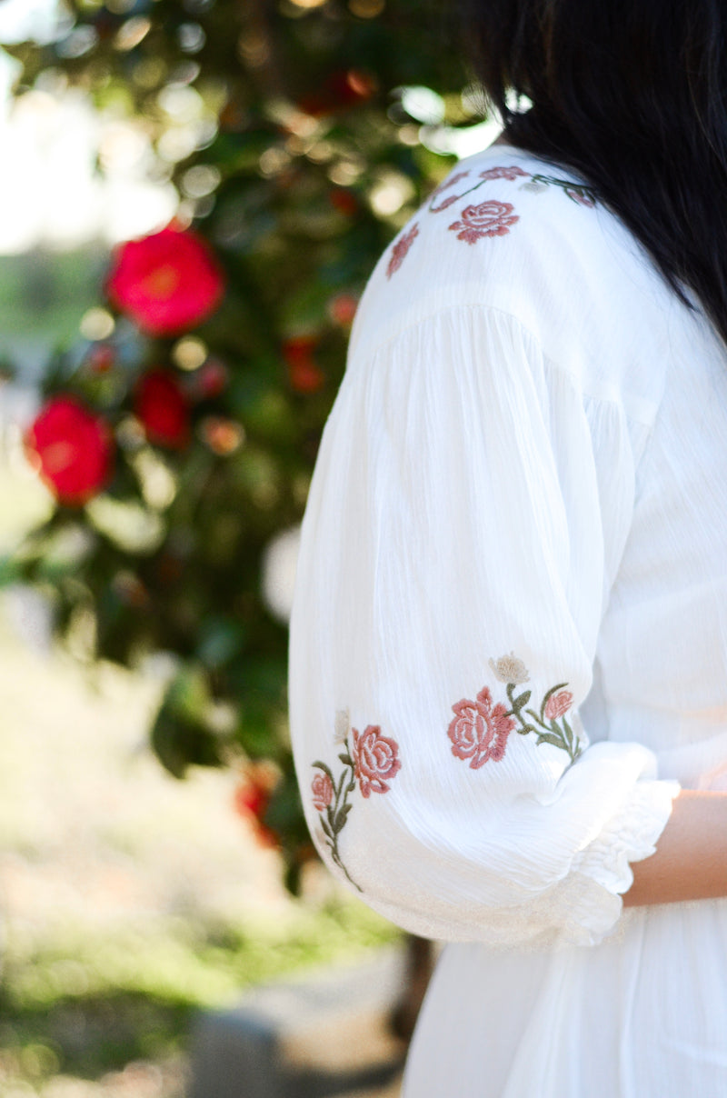 The Monroe Embroidered Floral Dress