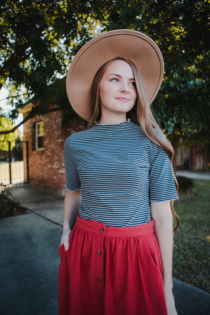 Terra Cotta Collar Blouse