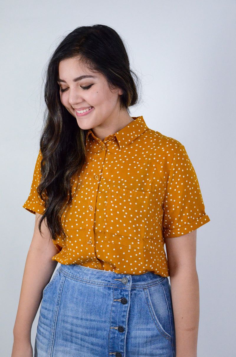 The Adela Polka Dot Top