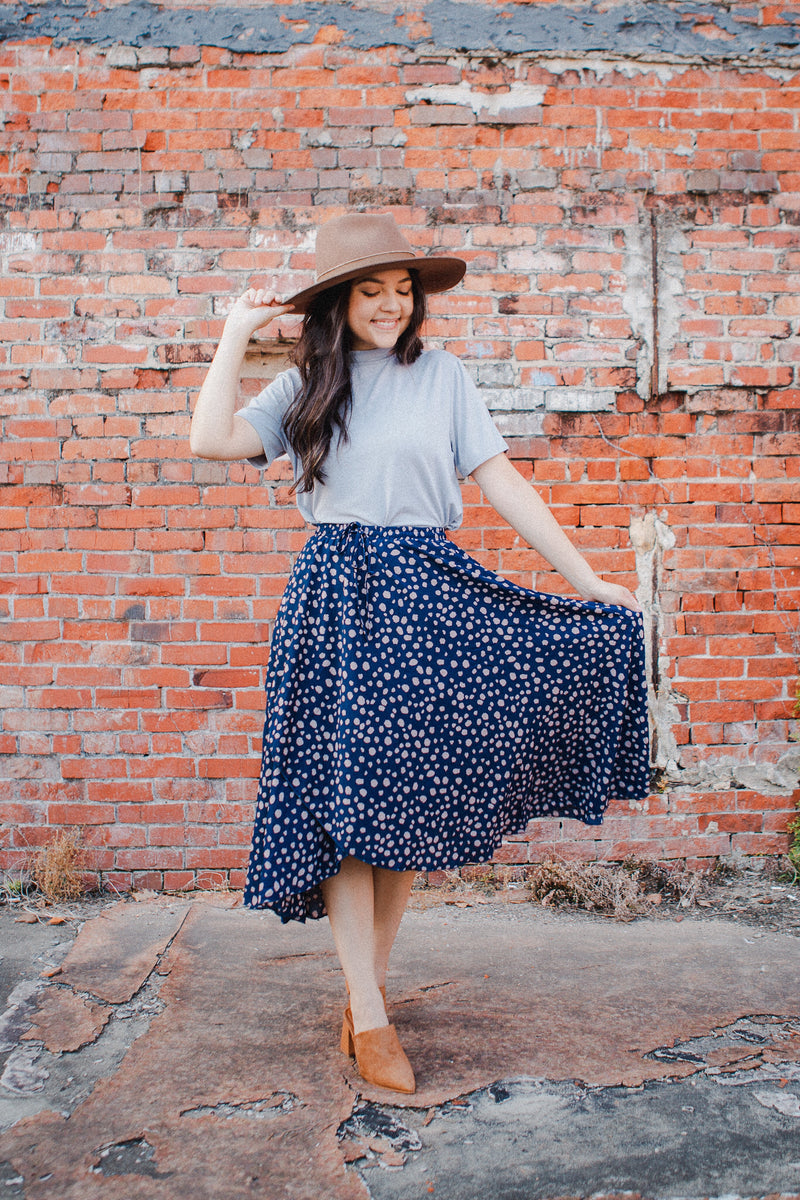 Spot the Dot Midi Skirt
