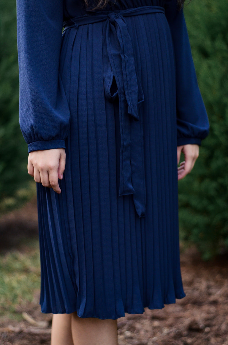 Laurel Pleated Midi Dress