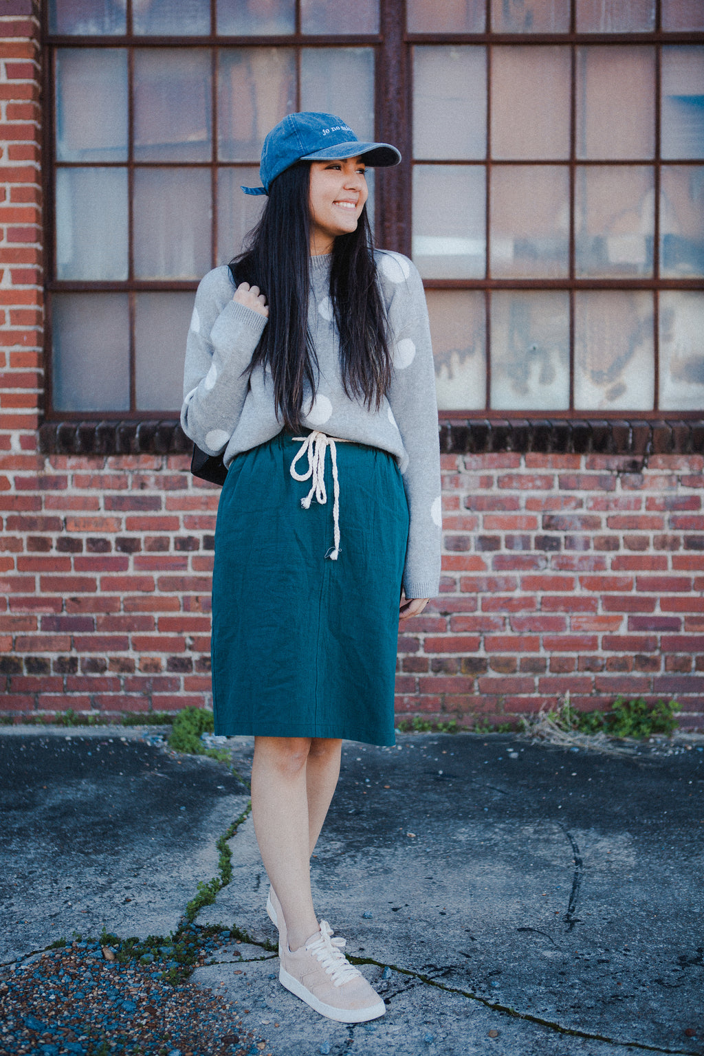 Corinth Skirt in Forest Green