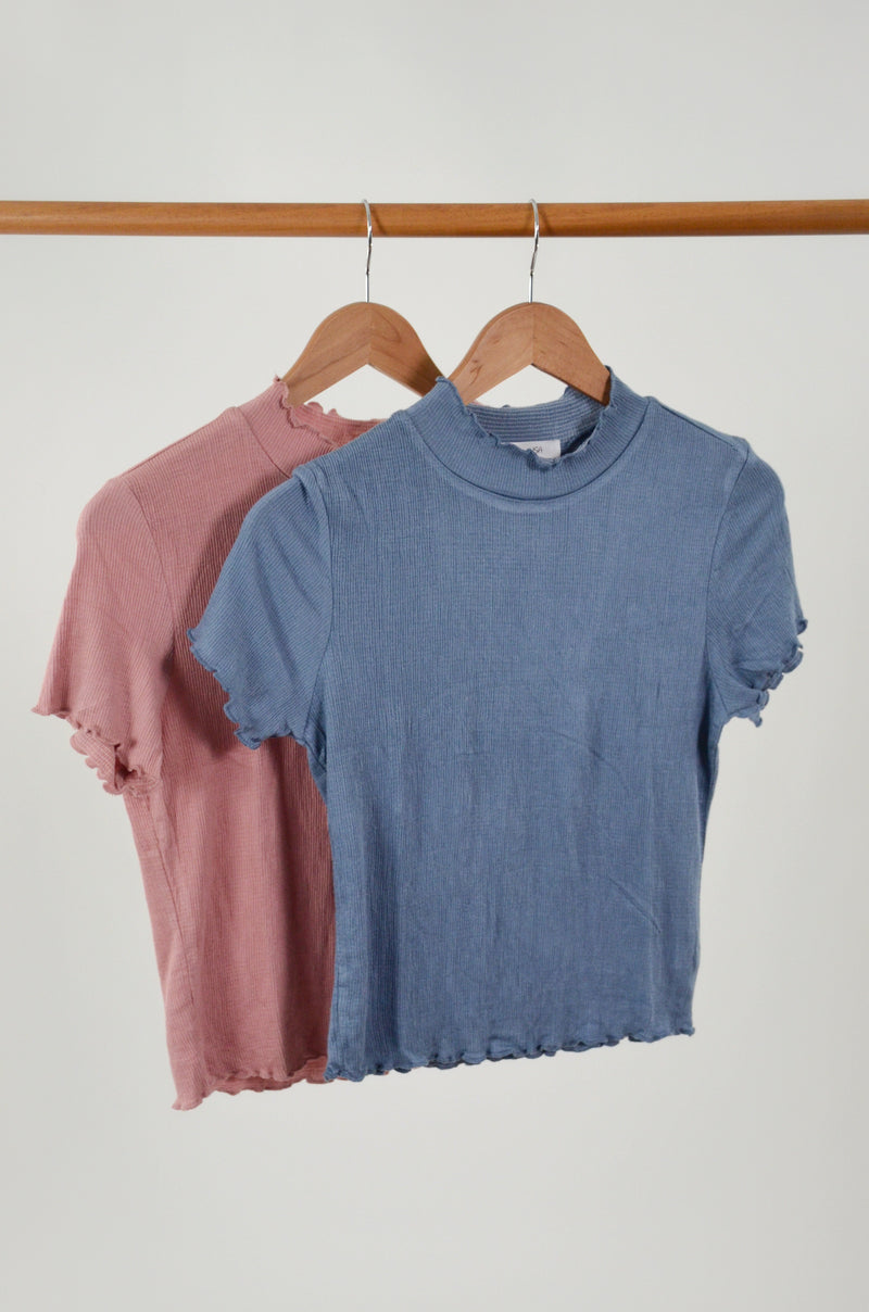 The Lucille Mock Neck Tee