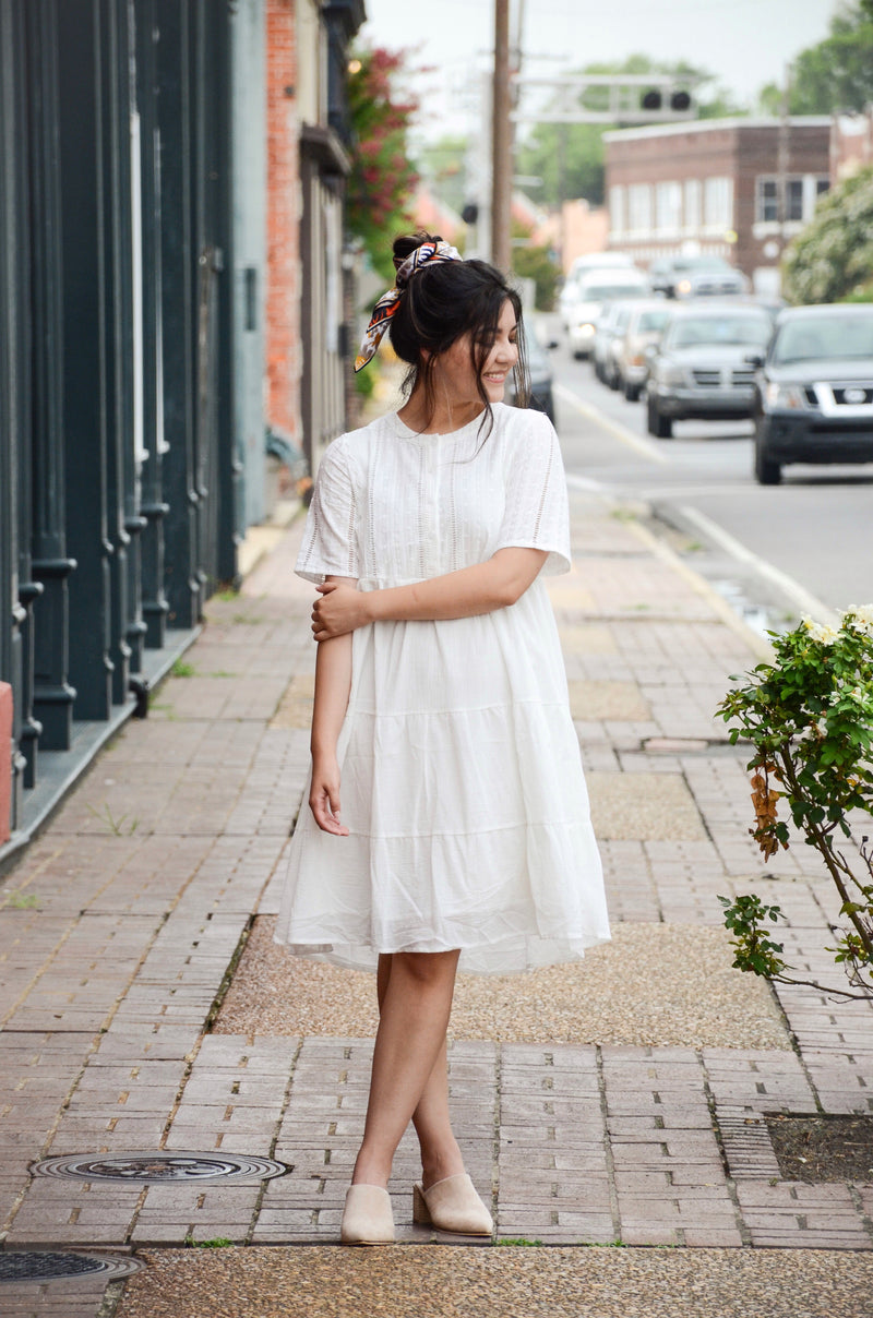 The Courtney Eyelet Dress