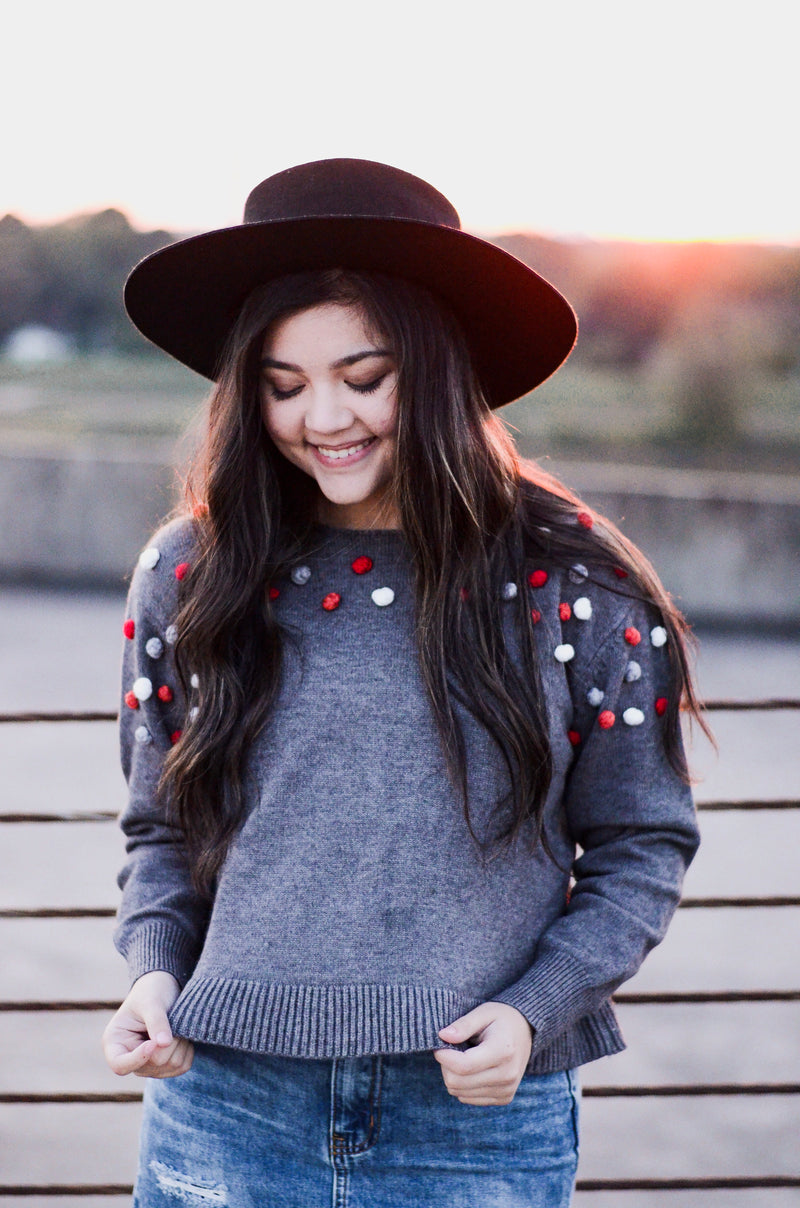 The Luna Pom Pom Sweater