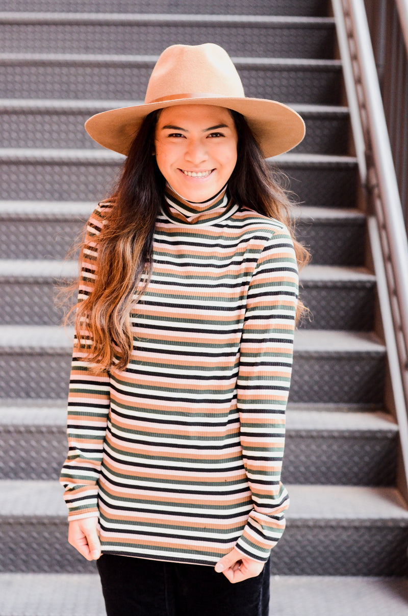 The Josie Striped Turtleneck