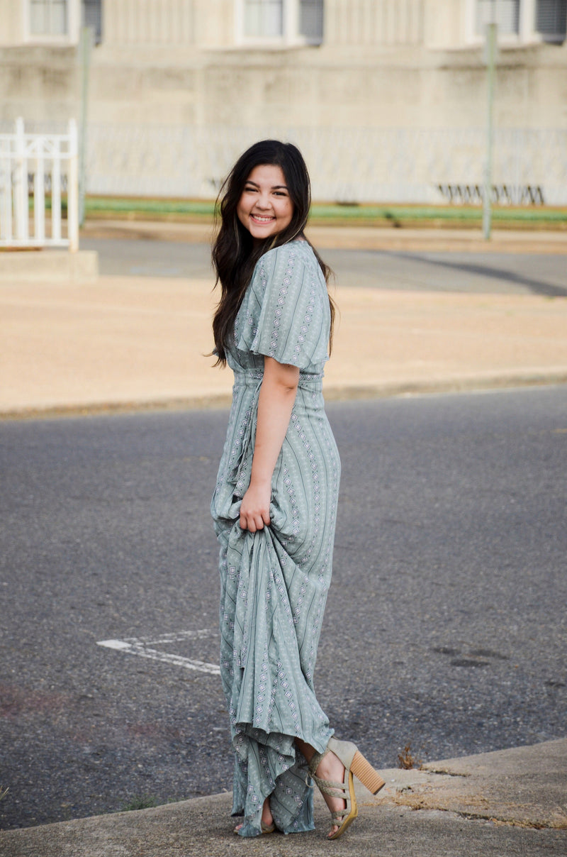 The Aurelia Wrap Maxi Dress