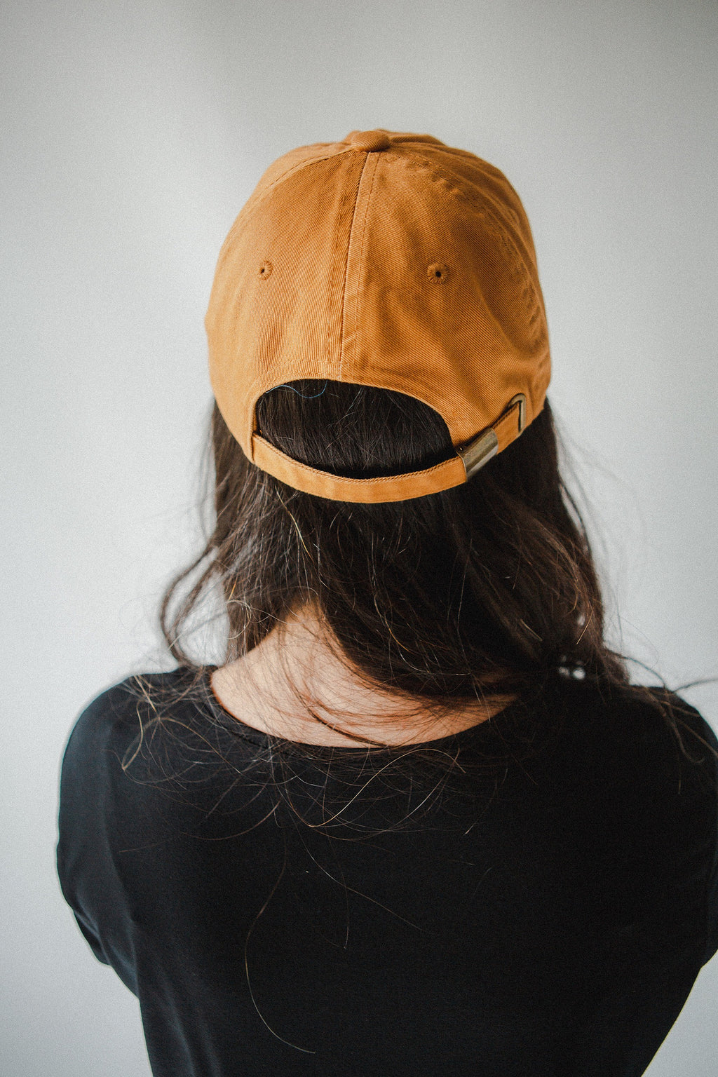 Everyday Is New Baseball Cap in Mustard