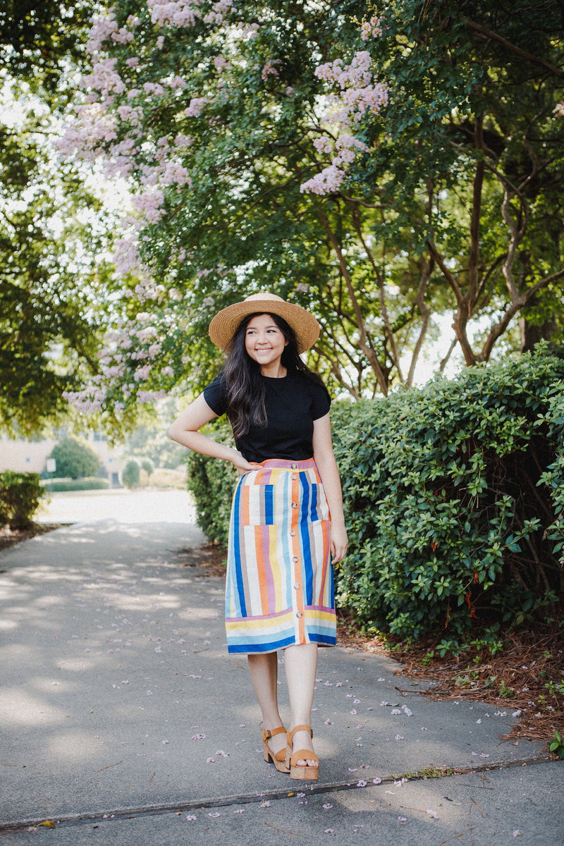 The Vanderbilt Multi-Striped Skirt